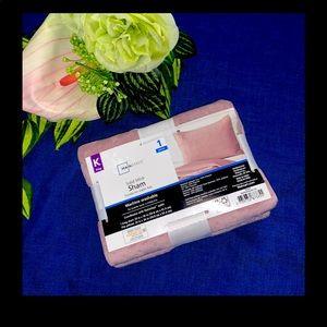 Mainstays Pink Solid Mink King Pillow Sham 20x36